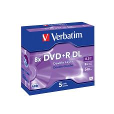 Verbatim DVD+R 8.5 GB 5 stuks 8x Dual-Layer