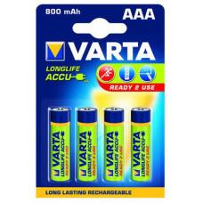 AAA Varta 800mAh NiMH 4 stuks blisterverpakking