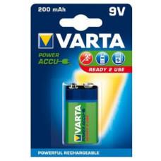 9V Varta 200mAh NiMH 1 stuk blisterverpakking