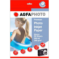 A4 AgfaPhoto Foto 250 240gr. 50v. Glans