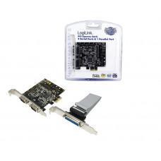 PCIExpress card Parallel (1xe) / Serieel (2xe) LogiLink