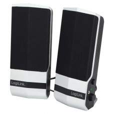 LogiLink 2.0 Active Speaker Zwart/zilver