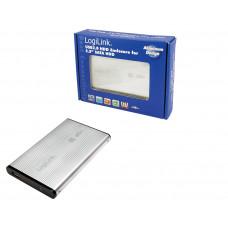 "2.5"" Logilink Enclosure USB2.0 / SATA / Zilver"