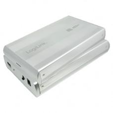 "3.5"" LogiLink Enclosure USB2.0 / SATA / Zilver"