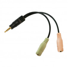 Audio Adapter 3.5 mm 4pins -> 2x 3.5 mm LogiLink