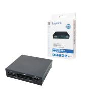 "3,5"" LogiLink All-in-One Zwart Plastic USB 2.0"