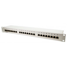 TOE 1U Patch Panel 24-port CAT5e STP Grijs LogiLink