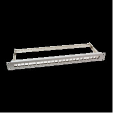 "Keystone Panel 19"" 24 Ports Shielded Grijs LogiLink"