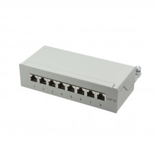 TOE Patch Panel Desktop 8-port CAT6a STP LogiLink