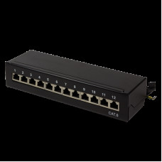TOE Patch Panel Desktop 12-port CAT6 STP LogiLink Zw