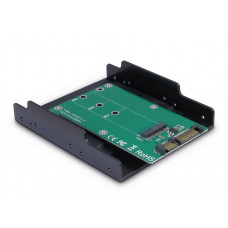 "Adapter 3,5"" Slot M.2 SATA-->SATA Inter-Tech KT001B"