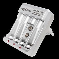 Logilink Universeel lader 4x AA of 4x AAA en 1x 9V