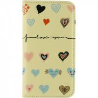 Mobilize Premium Magnet Book Case Apple iPhone 5/5S/SE I Love You