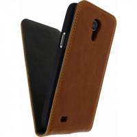 Mobilize Premium Magnet Flip Case Samsung Galaxy S4 Mini I9195 Brown