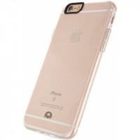 Mobilize Deluxe Gelly Case Apple iPhone 6/6S Clear Rose Gold Button
