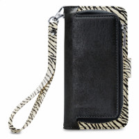 Mobilize 2in1 Gelly Wallet Zipper Case Samsung Galaxy A8 2018 Black/Zebra