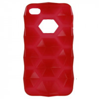 Xccess TPU Case Apple iPhone 4/4S Prisma Transparent Red