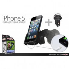 60197 Kram Fix2Car Passive Holder Window incl. 12V USB Car Charger Apple iPhone 5/5S/SE