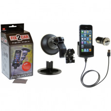 60203 Kram Fix2Car Active Holder Window incl. Car Charger & Griffin Data Cable Apple iPhone 5/5S/SE