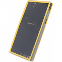 Xccess Hard Bumper Case Sony Xperia Z Yellow/Transparent