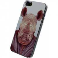 Xccess Metal Plate Cover Apple iPhone 5/5S/SE Funny Rhino