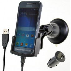 64282 Kram Fix2Car Active Holder Window incl. 2.1 A Car Charger Samsung Galaxy Xcover 3/VE