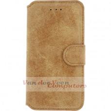 Xccess Wallet Book Stand Case Apple iPhone 7 Plus/8 Plus Vintage Light Brown