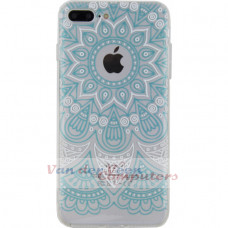 Xccess TPU/PC Case Apple iPhone 7 Plus/8 Plus Transparent/Green Oriental