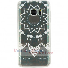 Xccess TPU/PC Case Samsung Galaxy S7 Transparent/Green Oriental