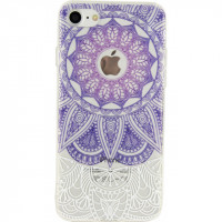 Xccess TPU/PC Case Apple iPhone 7/8 Transparent/Purple Oriental