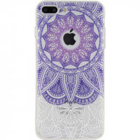 Xccess TPU/PC Case Apple iPhone 7 Plus/8 Plus Transparent/Purple Oriental