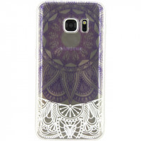 Xccess TPU/PC Case Samsung Galaxy S7 Transparent/Purple Oriental