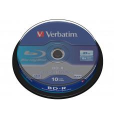 Verbatim BD-R SL 25GB 6 x 10 Pack Spindle BD-R 25GB 10stuk(s)