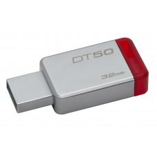 Kingston Technology DataTraveler 50 32GB 32GB USB 3.0 (3.1 Gen 1) USB-Type-A-aansluiting Rood, Zilver USB flash drive