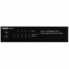 Eminent EM4430 netwerk-switch Unmanaged Fast Ethernet (10/100) Zwart Power over Ethernet (PoE)