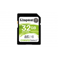 Kingston Technology Canvas Select 32GB SDHC UHS-I Klasse 10 flashgeheugen