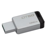 Kingston Technology DataTraveler 50 128GB USB flash drive 3.0 (3.1 Gen 1) USB-Type-A-aansluiting Zwart, Zilver