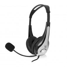 Ewent EW3562 hoofdtelefoon Stereofonisch Hoofdband Zwart, Zilver