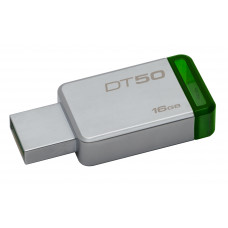 Kingston Technology DataTraveler 50 16GB USB flash drive USB Type-A 3.2 Gen 1 (3.1 Gen 1) Green,Silver