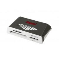 Kingston Technology USB 3.0 High-Speed Media Reader USB 3.0 Grijs, Wit geheugenkaartlezer