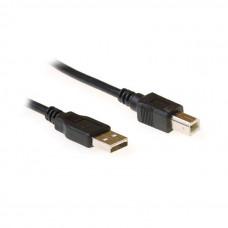 Ewent EC2403 USB-kabel 3 m USB A USB B Mannelijk Zwart