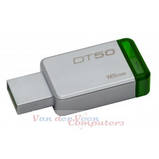 Kingston Technology DataTraveler 50 16GB USB flash drive 3.0 (3.1 Gen 1) USB-Type-A-aansluiting Groen, Zilver