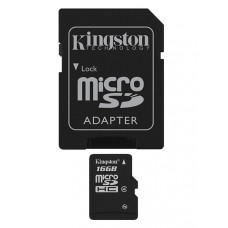 Kingston Technology 16Gb microSDHC 16GB MicroSDHC Flash Klasse 4 flashgeheugen
