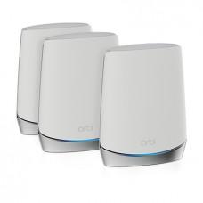 Netgear Orbi WiFi 6 wireless router Gigabit Ethernet Tri-band (2.4 GHz / 5 GHz / 5 GHz) Stainless steel, White