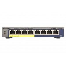 Netgear GS108PE Managed Gigabit Ethernet (10/100/1000) Black Power over Ethernet (PoE)
