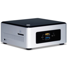 Intel BOXNUC5PPYH PC/workstation barebone N3700 1.6 GHz UCFF Silver,Black BGA 1170
