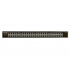 Netgear GS348 Unmanaged Gigabit Ethernet (10/100/1000) 1U Black