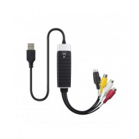 Ewent EW3706 USB 2.0 S-Video/Composite AV Zwart, Grijs, Rood, Wit, Geel kabeladapter/verloopstukje