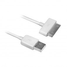Ewent EW9903 mobile phone cable White USB A Apple 30-pin 1.5 m