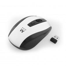 Ewent EW3236 muis RF Draadloos Optisch 1600 DPI Ambidextrous Zwart, Wit